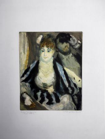 Acquatinta Renoir - LA LOGE (d'après Pierre-Auguste Renoir, gravé par Jacques Villon)