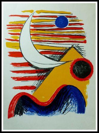 Litografia Calder - LA LUNE ET LA MONTAGNE