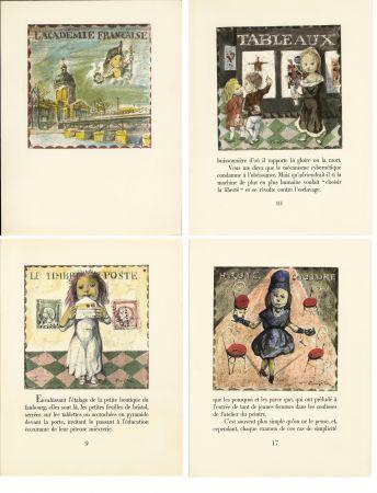 Libro Illustrato Foujita - LA MÉSANGÈRE (Jean Cocteau) 21 lithographies. 1963. Ex. de luxe avec soie signée et suite couleurs