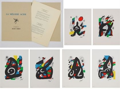 Litografia Miró - La mélodie acide