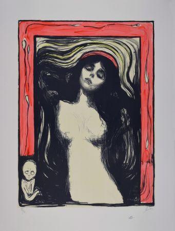 Litografia Munch - La Madone / Madonna - 1895
