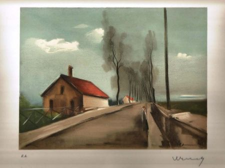 Litografia Vlaminck - La maison dans la plaine