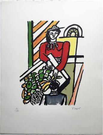 Litografia Leger - LA MARCHANDE DE QUATRE SAISONS (1959).