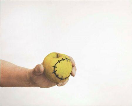 Serigrafia Pistoletto - La mela reintegrata