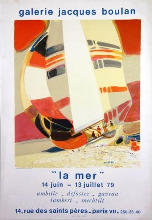 Litografia Ambille - La Mer  Galerie Jacques Boulan