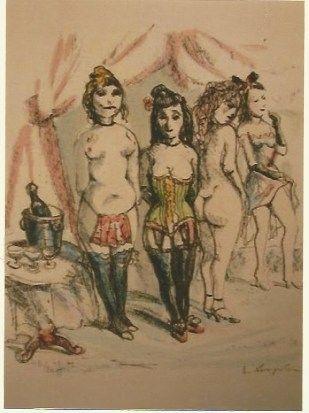 Incisione Foujita - La Mesangere (Four prostitutes)