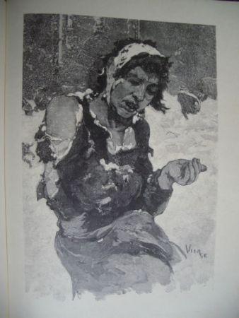 Incisione Su Legno Vierge - La misère à Londres