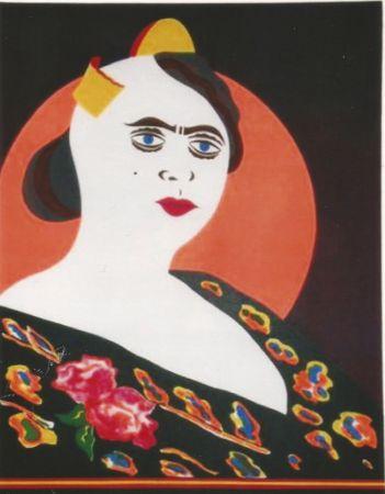 Litografia Arroyo - La moglie del Minatore p. Martinez, Constantina