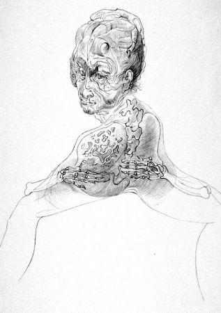Litografia Bellmer - La morte