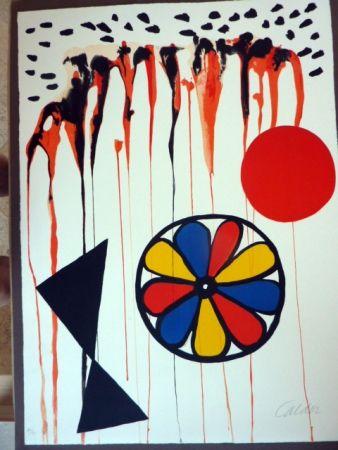 Litografia Calder - La Mousson