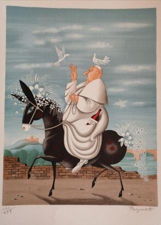 Litografia Peynet - La Mule du Pape