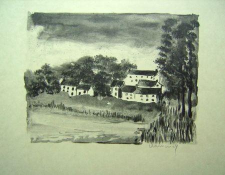 Litografia Vlaminck - La Naze, le Village