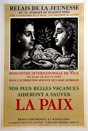 Litografia Picasso - La Paix - Relais de la Jeunesse
