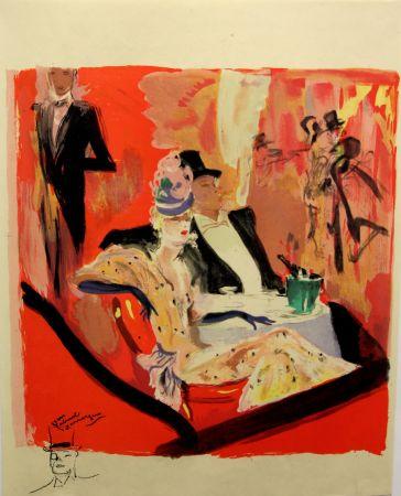Litografia Domergue - La  Parisienne - Chez Maxim's