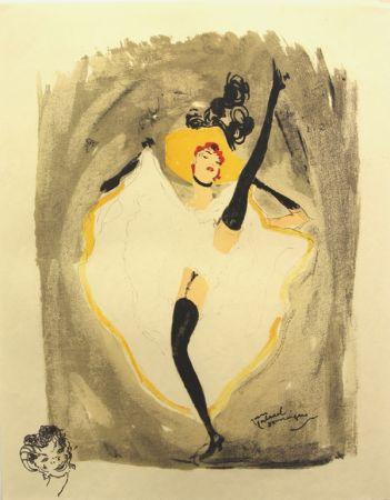 Litografia Domergue - La  Parisienne  Danseuse Cancan