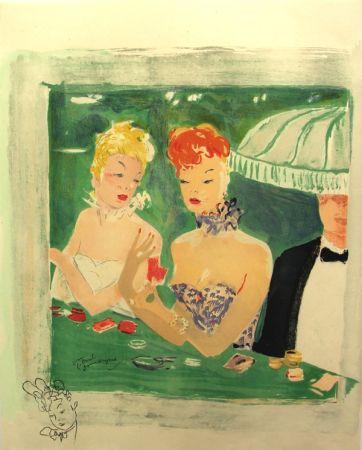 Litografia Domergue - La Parisienne Femmes au Casino