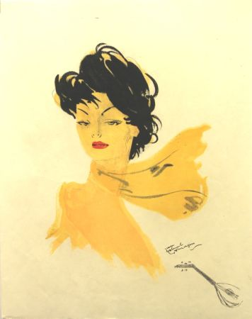 Litografia Domergue - La Parisienne   GiGi