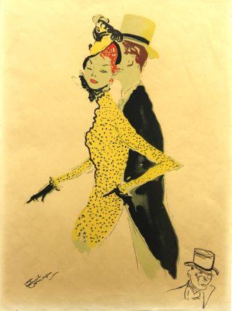 Litografia Domergue - La  Parisienne  La Belle Helene