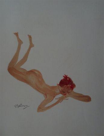 Litografia Domergue - La Parisienne: Sabine