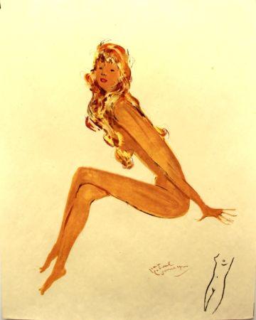Litografia Domergue - La parisienne   Sylvie