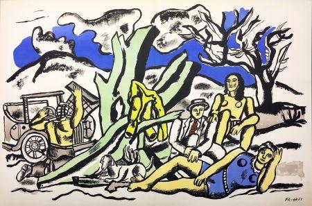 Litografia Leger - LA PARTIE DE CAMPAGNE (1951-1953)