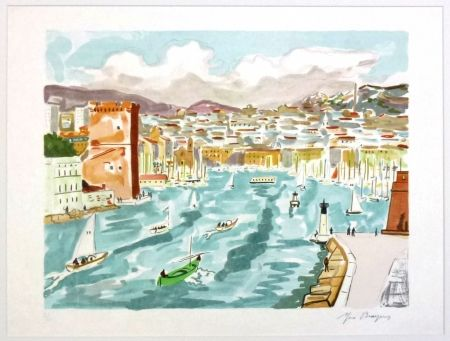 Litografia Brayer - La passe du vieux port