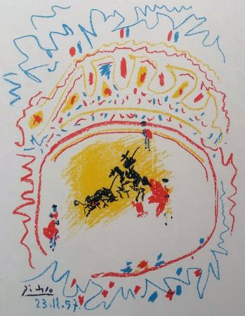 Litografia Picasso - '' La Petite Corrida ''