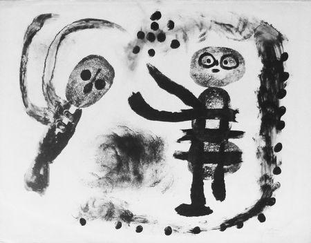 Litografia Miró - La petite fille au bois