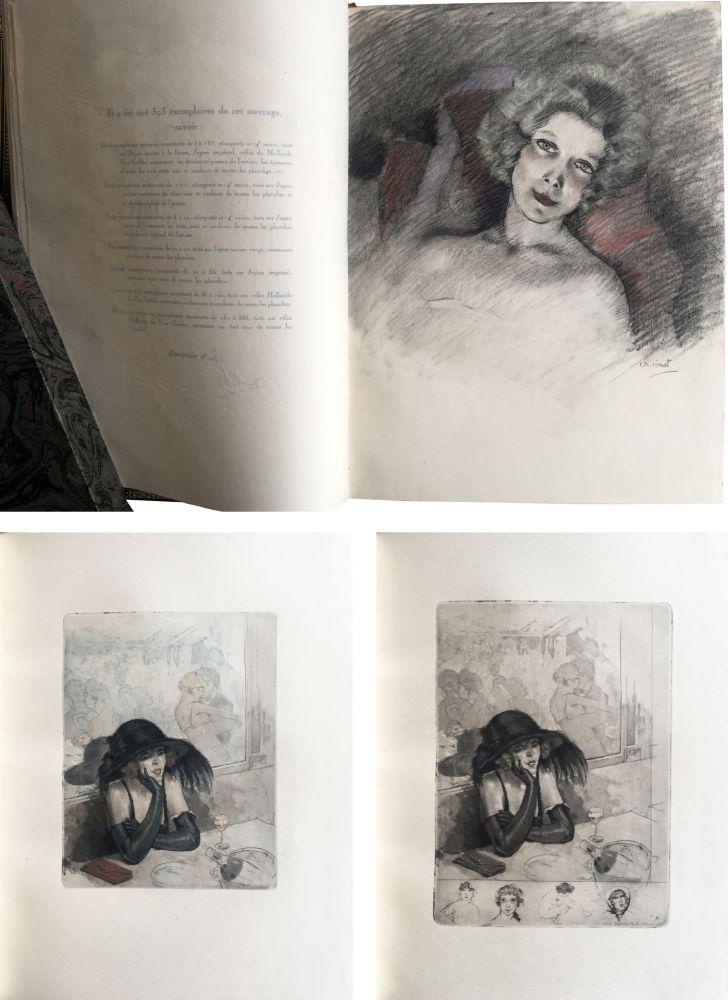 Libro Illustrato Chimot - LA PETITE JEANNE PÂLE, suivi de la Petite Sirène du Pont des Arts (1922). 1 des 5 Japon avec dessin original et suites.