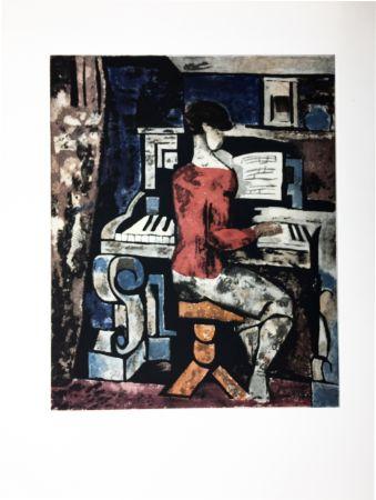 Acquaforte E Acquatinta Gromaire - La pianiste