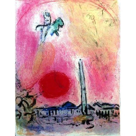 Litografia Chagall - La Place De La Concorde