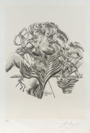 Litografia Dali - La poesía