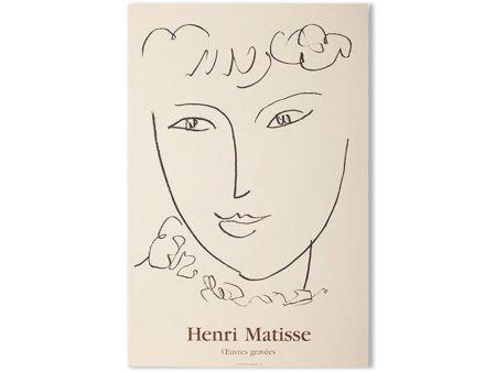 Litografia Matisse - LA POMPADOUR. Affiche en lithographie pour l'exposition de 1951.