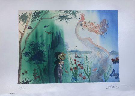 Litografia Dali - La Primavera INTERGRAFICA 56X38