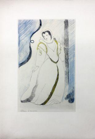 Acquaforte Laurencin - LA PRINCESSE DE CLÈVES (Pl. III signée au crayon). 1947