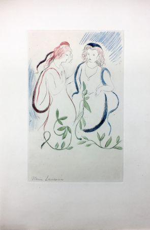 Acquaforte Laurencin - LA PRINCESSE DE CLÈVES (Pl. VI signée au crayon). 1947