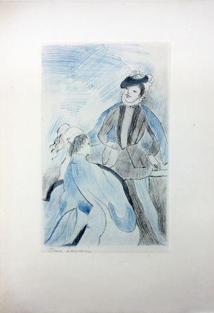 Acquaforte Laurencin - LA PRINCESSE DE CLÈVES (Pl. VIII signée au crayon). 1947