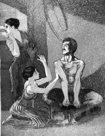 Acquaforte E Acquatinta Klinger - La ragazza e il tiratore