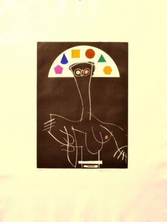 Acquaforte Valdés - La reina Mariana como pretexto (Miró)