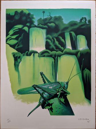 Litografia Uriburu - La sauterelle