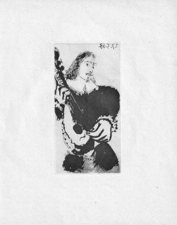 Acquatinta Picasso - La Serenade