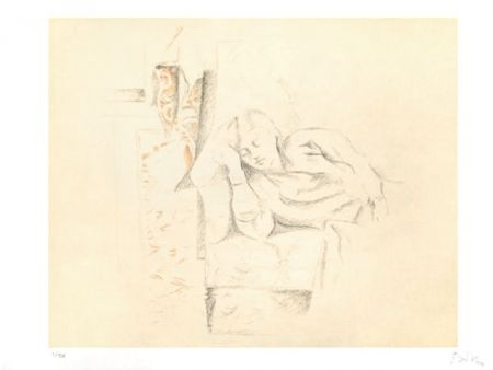 Litografia Balthus - LA SIESTE