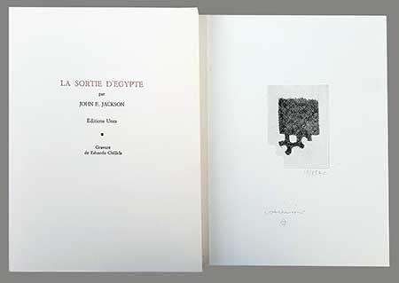 Libro Illustrato Chillida - La Sortie D'egypte