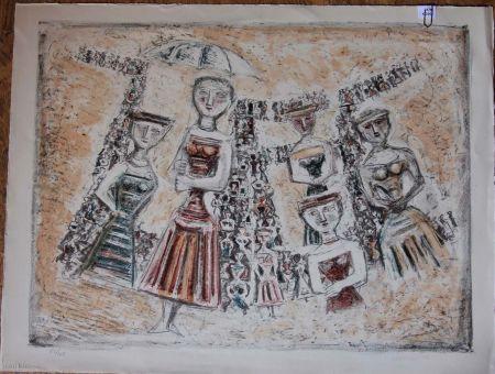 Litografia Campigli - La Strada