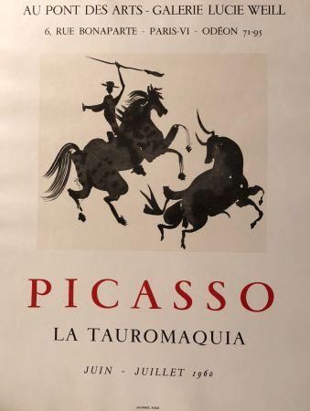 Manifesti Picasso - La Tauromaquia - Au Pont Des Arts - Galerie Lucie Weil, Paris Juin - Juillet 1960
