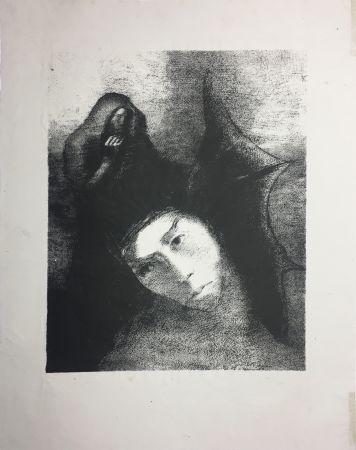 Litografia Redon - LA TENTATION DE SAINT-ANTOINE (Planche XVIII, 3ème série) 1896