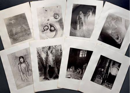 Litografia Redon - LA TENTATION DE SAINT ANTOINE. Lithographies originales d'Odilon Redon.