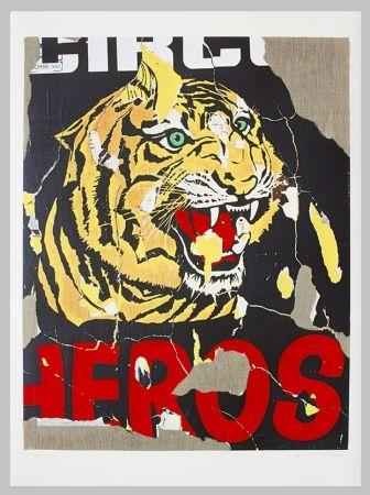 Serigrafia Rotella - La tigre