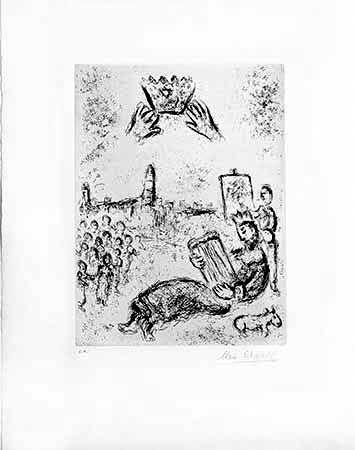 Incisione Chagall - La tour du Roi David
