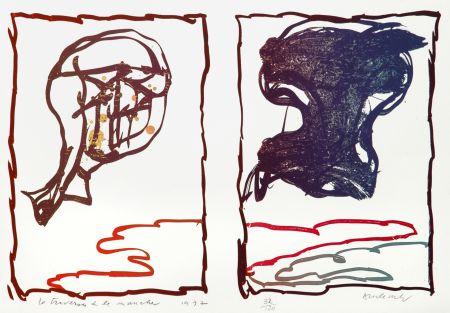 Litografia Alechinsky - La Traversée de la Manche